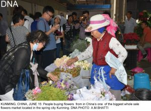 """By Ansar M Bhatti in Kunming KUNMING (CHINA), JUNE 15 (DNA) - Pakistan justified its nomination as """"'guest of honour' at the Kunming South and Southeast Asia Expo, 2017, as it businessmen came out in a big number this time, with new varieties of goods to attract local market , said the Expo's organizers. Around 200 Pakistanis' stalls at specially allotted Pavilion were the Center of attention for the visitors.Pakistan's products particularly the leather and marble-made goods, besides traditional handicrafts were the eye-catching. An official Wang Wei said that Pakistan is very close to their heart and they wished it should get maximum benefit from the expo, that will conclude on Monday. He said Pakistan has gained a most prominent position among the common Chinese because of its active role in Belt and Road's initiative. Pakistan was provided the opportunity of being the lead country , not only for being China's all-weather friend, but also because the bilateral balance of trade has tilted too much in China's favour and now the Chinese Central government wanted it should get corrected for a win-win situation. Li Jao, a senior official of Yunnan's Department of Commerce, explained to the gathering of international journalists that Pakistan has the potential, but has not risen to it due to extraneous circumstances. Hence, the opportunity at Kunming enabled it to showcase its products, attracting Chinese and other international buyers. Indeed, with around 200 stalls, including the main theme pavilion at the very entrance, designed in the likeness of the Lahore Fort, depicting strength of character, continuity and diversity, Pakistan put its best foot forward; tastefully displaying a variety of products like textiles, leather and sports goods, rice, marble-ware, furniture, traditional handicrafts, cutlery and jewellery. It was heartening to observe thousands of Chinese and international buyers throng to the Pakistani stalls, although the hundreds of other exhibition boo"""