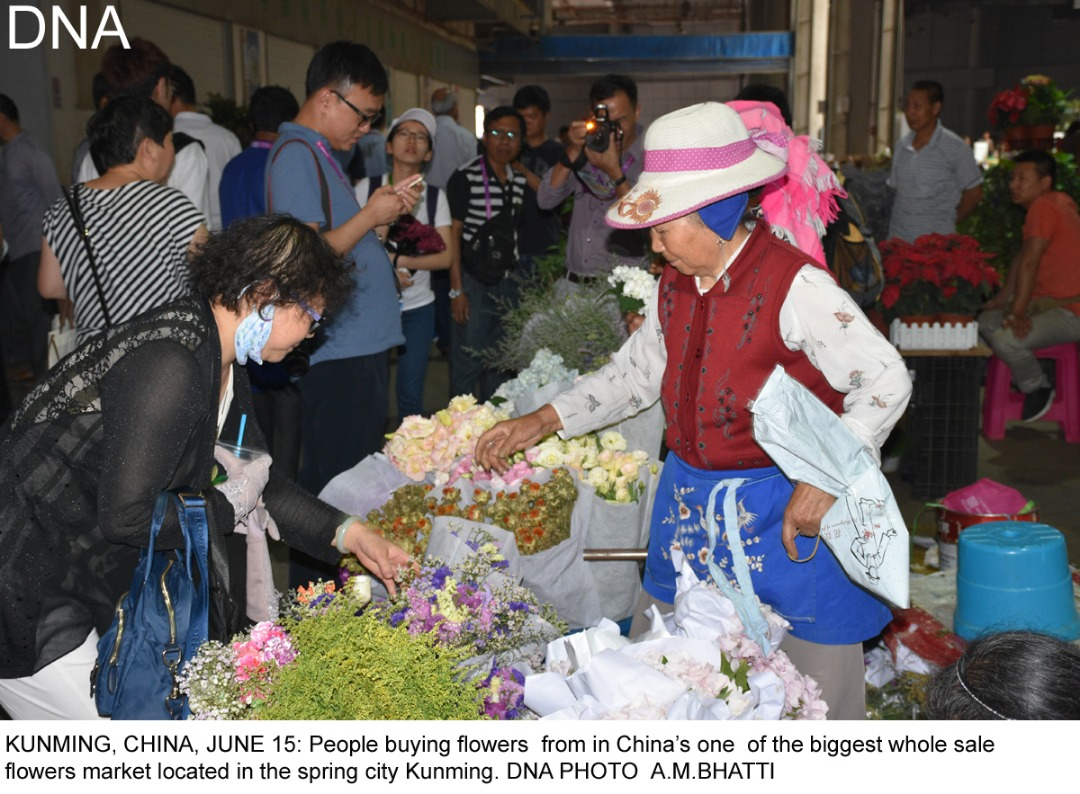 "By Ansar M Bhatti in Kunming KUNMING (CHINA), JUNE 15 (DNA) - Pakistan justified its nomination as ""'guest of honour' at the Kunming South and Southeast Asia Expo, 2017, as it businessmen came out in a big number this time, with new varieties of goods to attract local market , said the Expo's organizers. Around 200 Pakistanis' stalls at specially allotted Pavilion were the Center of attention for the visitors.Pakistan's products particularly the leather and marble-made goods, besides traditional handicrafts were the eye-catching. An official Wang Wei said that Pakistan is very close to their heart and they wished it should get maximum benefit from the expo, that will conclude on Monday. He said Pakistan has gained a most prominent position among the common Chinese because of its active role in Belt and Road's initiative. Pakistan was provided the opportunity of being the lead country , not only for being China's all-weather friend, but also because the bilateral balance of trade has tilted too much in China's favour and now the Chinese Central government wanted it should get corrected for a win-win situation. Li Jao, a senior official of Yunnan's Department of Commerce, explained to the gathering of international journalists that Pakistan has the potential, but has not risen to it due to extraneous circumstances. Hence, the opportunity at Kunming enabled it to showcase its products, attracting Chinese and other international buyers. Indeed, with around 200 stalls, including the main theme pavilion at the very entrance, designed in the likeness of the Lahore Fort, depicting strength of character, continuity and diversity, Pakistan put its best foot forward; tastefully displaying a variety of products like textiles, leather and sports goods, rice, marble-ware, furniture, traditional handicrafts, cutlery and jewellery. It was heartening to observe thousands of Chinese and international buyers throng to the Pakistani stalls, although the hundreds of other exhibition booths from emerging economic giants in the region also displayed their best merchandise. The expo was formally inaugurated early this week by the Governor of Yunnan province Chen Hao. It was also addressed by Pakistan's Consulate General in China Amana Baluch who thanked the Chinese government for its special gesture of goodwill towards her country, that she hoped will be a great source of help enhancing Pakistan's export to China and other regional countries, as well as improving balance of payment position. She termed the expo as a historical event, giving further boost to their all-round socio-economic partnership. The weeklong expo was co-sponsored by the government of Yunnan, China Chamber of International Commerce, SAARC Chamber of Commerce and Industry and Asean China Center. The expo provided an opportunity to about 8,000 traders from all around the world to showcase their products in order to upgrade their bilateral trade's links and mutual exchanges, seeking more and more investment in their respective countries. While speaking on the occasion, China Assistant Minister for Commerce praised high of Pakistan's contribution towards Belt and Road's initiative. About the CPEC, he said, it was being implemented rapidly, hoping that the two-countries' bilateral cooperation to this effect will deliver a great amount of benefits to the people of Pakistan and help them to improve their living conditions.=DNA =============="