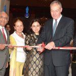 ISLAMABAD, AUG 18: Ambassador of Turkey Sadik Babur Girgin, CEO Serena hotels Aziz Boolani and others cutting ribbon to open Turkish culinary week at Islamabad Serena hotel.=DNA PHOTO