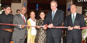 ISLAMABAD, AUG 18: Ambassador of Turkey Sadik Babur Girgin, CEO Serena hotels Aziz Boolani and others cutting ribbon to open Turkish culinary week at Islamabad Serena hotel.=DNA PHOTO