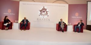 "ISLAMABAD, SEPT 15: Speakers taking part in a panel discussion  on the occasion of a dialogue "" Raabta"" held under the aegis of Serena Hotels Public Diplomacy initiative. DNA"