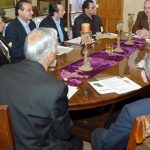 ISLAMABAD, NOV 15: Ambassador  of Romania Nicolae Goia chairing meeting of Pakistan Romania Forum (PRF) held at residence of PRF President Zahid Maqbool. DNA
