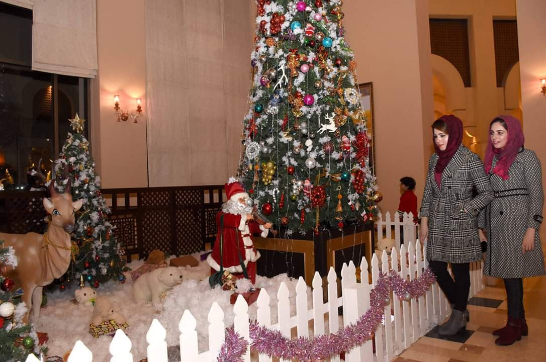Christmas tree lighting at Islamabad Serena Hotel