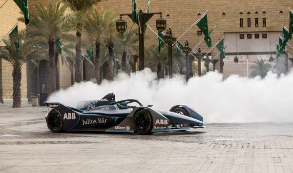 The first ever Formula E race begins in Saudi Arabia