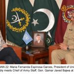 UNGA president calls on army chief