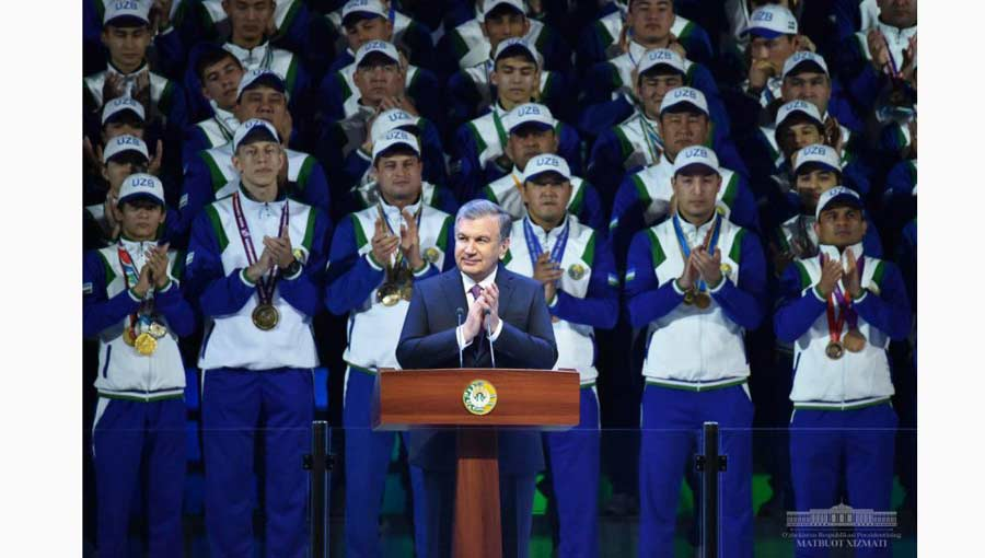 "Uzbekistan President addresses the opening ceremony of multifunctional Ice Complex ""Humo Arena"""